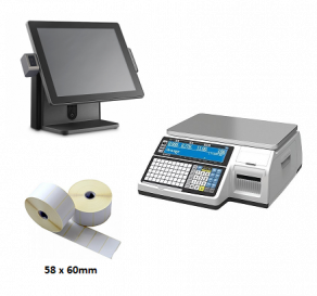 Probus POS Bundle- POS Terminal, Weighing Scale & Labels for Scale