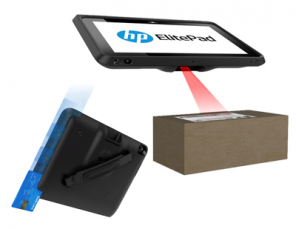 Hp Elitepad with Barcode Scanner & Retail Jacket w/o Battery 2D Scan Mag Swipe Reader