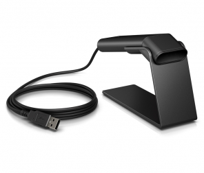 HP Barcode Scanner Kit w/stand Engage One 2D USB Black