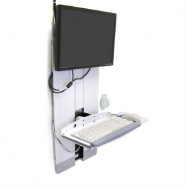 Ergotron Styleview Vertical Lift High Traffic Area White