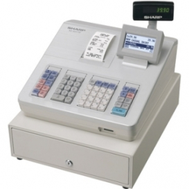 Sharp XEA207W Cash Register with Raised Keyboard White