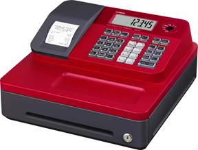 Casio SE-G1S ECR Cash Register Red/Black with Small Drawer