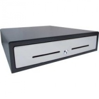 VPOS EC410 Cash Drawer 5 Note 8 Coin 24V Stainless Steel Front Black