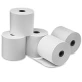 Thermal 80 x 70 mm 55 gsm with Centre Adhesive T8070MS55C