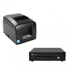 Clever Shop Bundle of Star TSP654II (Ethernet) Printer & Cash Drawer