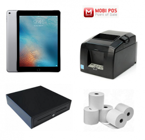 MobiPOS Bundle - Apple Ipad 10.2 , Star TSP654II Bluetooth Printer,Cash Drawer & Paper Rolls